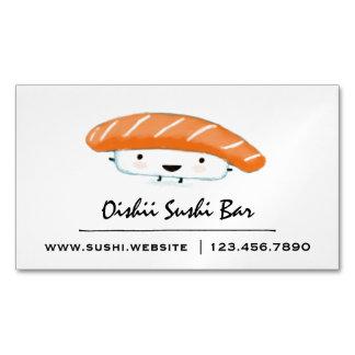 Cute Sushi Character | Kawaii Sashimi Business Card Magnet