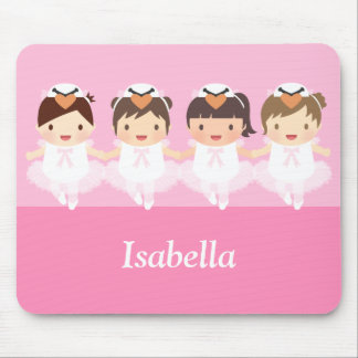 Cute Swan Ballet Ballerina For Girls Mouse Pad