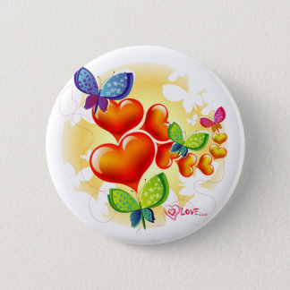 Cute Sweet Colorfull Summer Love Friendship 2 Inch Round Button