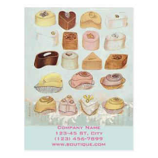 cute sweet dessert chocolate cookies bakery postcard