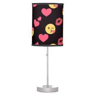 cute sweet emoji love hearts kiss lips pattern table lamp