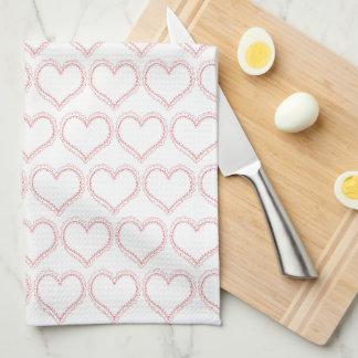 Cute Sweet Heart Pattern Kitchen Towel