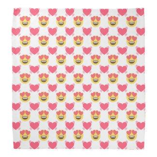 Cute Sweet In Love Emoji, Hearts pattern Bandana
