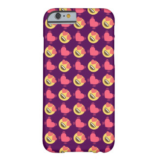 Cute Sweet In Love Emoji, Hearts pattern Barely There iPhone 6 Case