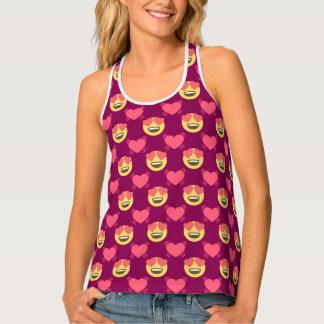 Cute Sweet In Love Emoji, Hearts pattern Tank Top