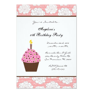 "CUTE Sweet Kids Fun Birthday Party 5"" X 7"" Invitation Card"