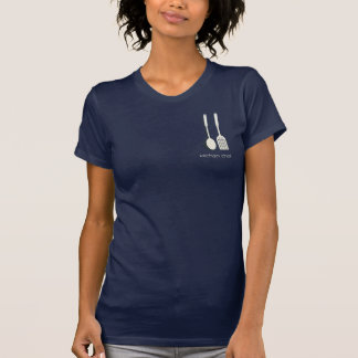 Cute Sweet Kitchen Chef Cook Foodie  Navy T-shirt