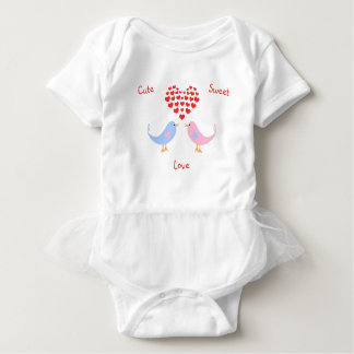 Cute sweet love birds custom text baby bodysuit