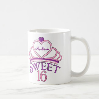 Cute Sweet Sixteen Custom Coffee Mug