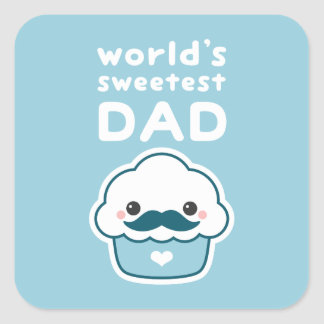 Cute Sweetest Dad Square Sticker
