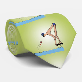Cute swimming champion tie