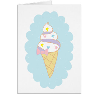 Cute Swirl Ice Cream Cone Card