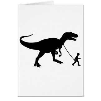 Cute T-rex Pet Card