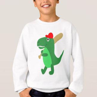 Cute T-Rex Playing Baseball Sweatshirt