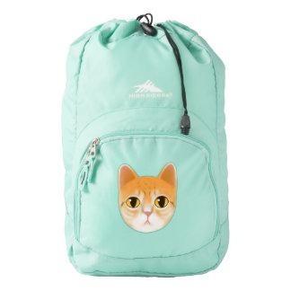 Cute Tabby Cat Illustration Backpack