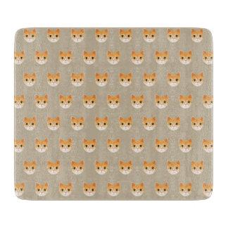 Cute Tabby Cat Illustration Cutting Board