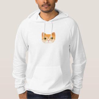 Cute Tabby Cat Illustration Hoodie