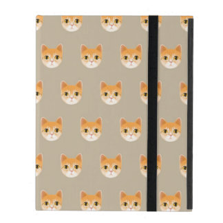 Cute Tabby Cat Illustration iPad Folio Case