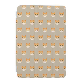 Cute Tabby Cat Illustration iPad Mini Cover