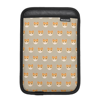 Cute Tabby Cat Illustration iPad Mini Sleeve