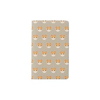 Cute Tabby Cat Illustration Pocket Moleskine Notebook