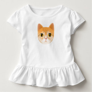 Cute Tabby Cat Illustration Toddler T-shirt