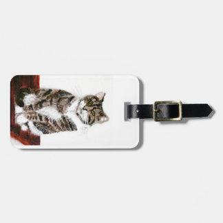 Cute Tabby Cat Luggage Tag
