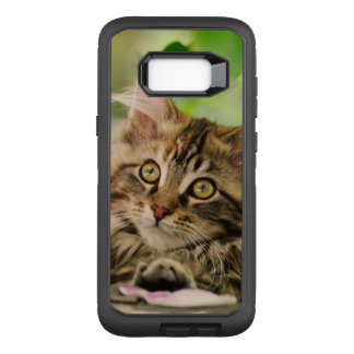 Cute Tabby Maine Coon Cat Kitten Fluffy Head Photo OtterBox Defender Samsung Galaxy S8+ Case