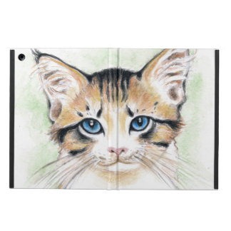 Cute Tabby Watercolor Art Cover For iPad Air