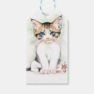 Cute Tabby Watercolor Art Gift Tags