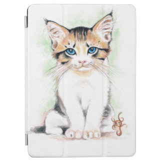 Cute Tabby Watercolor Art iPad Air Cover