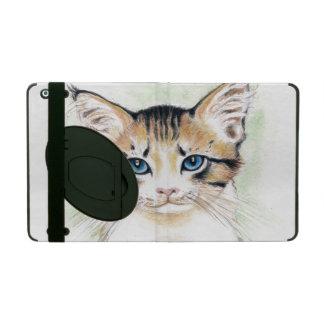 Cute Tabby Watercolor Art iPad Case