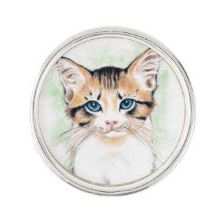 Cute Tabby Watercolor Art Lapel Pin
