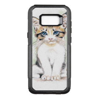 Cute Tabby Watercolor Art OtterBox Commuter Samsung Galaxy S8+ Case
