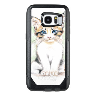 Cute Tabby Watercolor Art OtterBox Samsung Galaxy S7 Edge Case