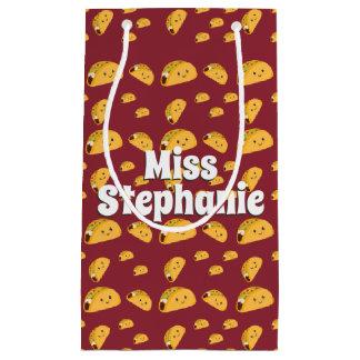 Cute Taco Pattern Name Gift Bag