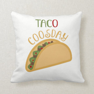 Cute Taco Throw Pillow for Nursery