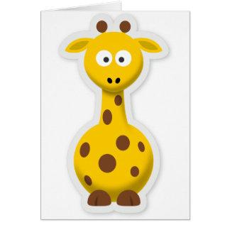 Cute tall giraffe zoo animals card