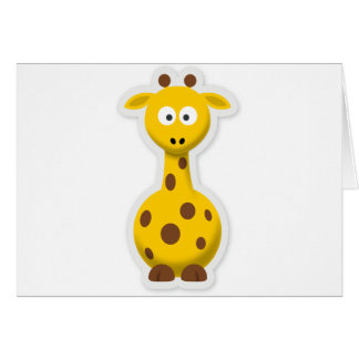 Cute tall giraffe zoo animals card