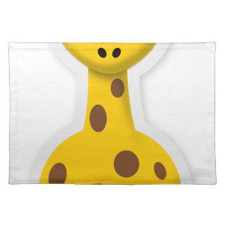 Cute tall giraffe zoo animals placemat