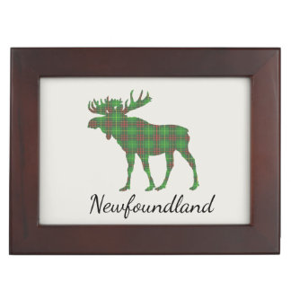 Cute Tartan moose Newfoundland memory box