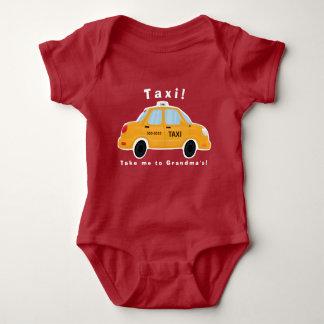Cute Taxi Cab Baby Bodysuit
