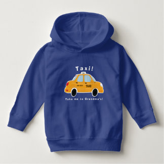 Cute Taxi Cab Toddler Hoodie Pullover