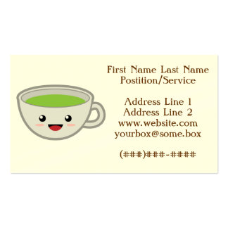 Cute Tea Shop Pack Of Standard Business Cards