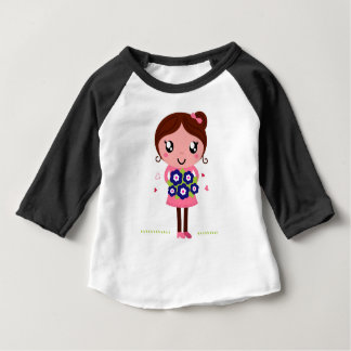 Cute teacher girl art Illustration Baby T-Shirt