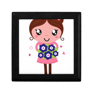 Cute teacher girl art Illustration Gift Box