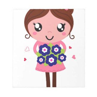 Cute teacher girl art Illustration Notepad