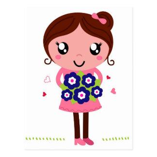 Cute teacher girl art Illustration Postcard
