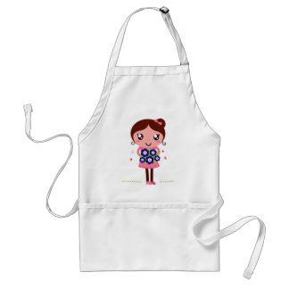 Cute teacher girl art Illustration Standard Apron