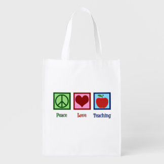 Cute Teacher Reusable Grocery Bag